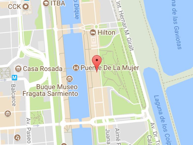 Ubicación Puerto Madero, Argentina